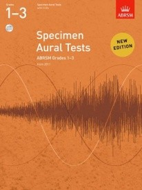 Specimen Aural Tests Grade 1 - 3 With CD published by Associated Board of the Royal Schools of Music (ABRSM)