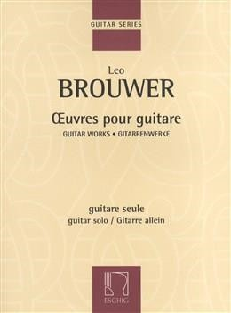 Oeuvres Pour Guitar by Brouwer published by Eschig
