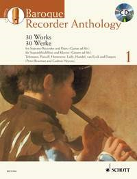 Baroque Recorder Anthology 1 Book & CD published by Schott and Co