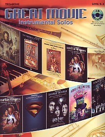 Great Movie Instrumental Solos Trombone Book CD for Trombone published by Alfred
