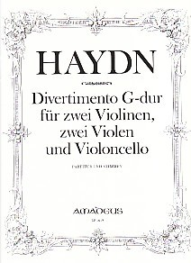 Divertimento in G major by Haydn for String Quintet published by Amadeus
