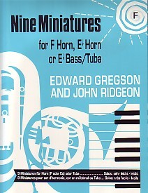 9 Miniatures - French Horn by Gregson for French Horn published by Brass Wind Publications (Brasswind)