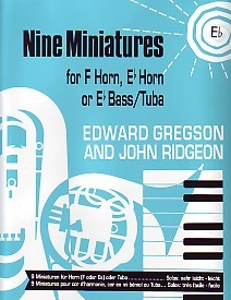9 Miniatures - Tenor Horn by Gregson for Tenor Horn published by Brass Wind Publications (Brasswind)