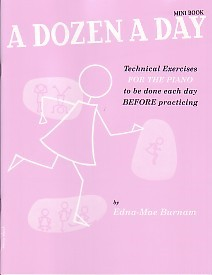 Dozen a Day Mini Book by Burnam for Piano published by Willis Music