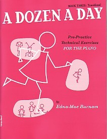 Dozen a Day Book 3 by Burnam for Piano published by Willis Music