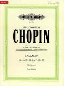 Chopin Ballades Urtext for Piano published by Peters Edition