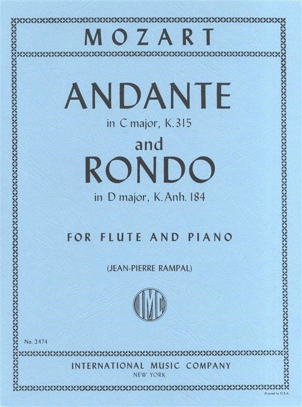 Wolfgang amadeus mozart : andante in f major, k 616 - flute quartet
