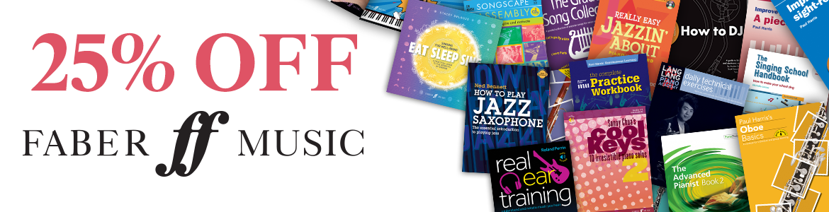 Faber Music 25% OFF