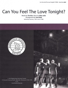 Can You Feel The Love Tonight TTBB published by Barbershop Harmony Society