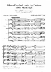 Britten: Whoso Dwelleth Under The Defence SSAATTBB published by Faber