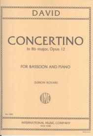 Concertino Opus 12 for Bassoon by David published by IMC