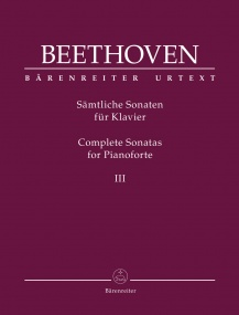 Beethoven: Complete Piano Sonatas Volume 3 published by Barenreiter