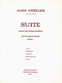 Ameller: Suite D'Après Rameau for Alto Saxophone published by EMT