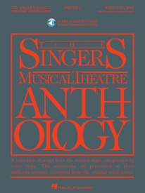 Singers Musical Theatre Anthology 1 Baritone/Bass Book & Online Audio published by Hal Leonard