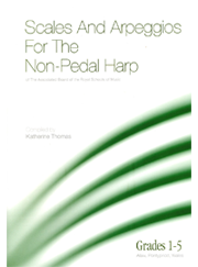 ABRSM Scales & Arpeggios for Non-pedal Harp Grades 1-5 published by Alaw