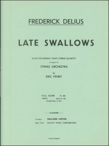 Delius: Late Swallows for String Orchestra published by Stainer & Bell
