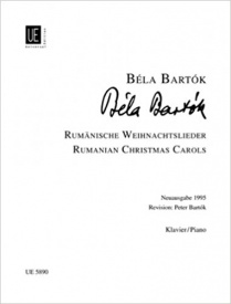 Bartok: Romanian Christmas Songs for Piano published by Universal