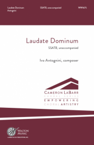Antognini: Laudate Dominum SATB published by Walton