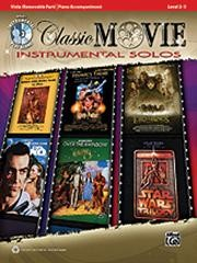 Classic Movie Instrumental Solos for Viola Book & CD published by Alfred