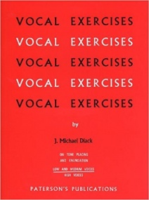 Diack: Vocal Exercises On Tone Placing And Enunciation for Low/Medium Voice published by Paterson