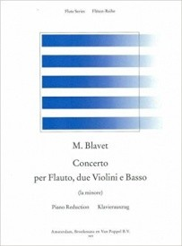 Blavet: Concerto in A minor For Flute published by Broekmans