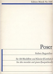 Poser: Seven Bagatelles Opus 52 for Recorder published by Moeck