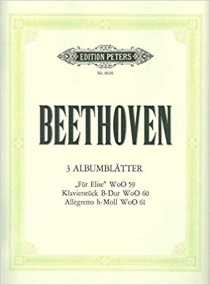 Beethoven: 3 Album Leaves for Piano published by Peters Edition