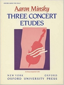 3 Concert Etudes for Cello by Minsky published by OUP
