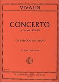 Vivaldi: Concerto in F RV489 for Bassoon published by IMC