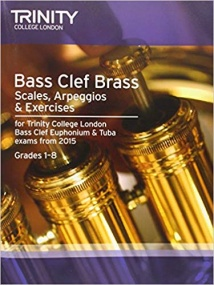 Trinity: Scales and Exercises for Bass Clef Brass Grade 1 - 8 from 2015