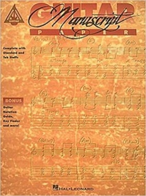 Recorded Versions Guitar Tablature Manuscript Paper published by Hal Leonard
