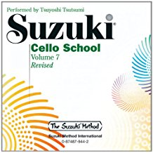 Suzuki Cello School Volume 7 CD Only published by Alfred