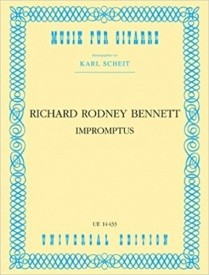 Bennett: Impromptus for Guitar published by Universal