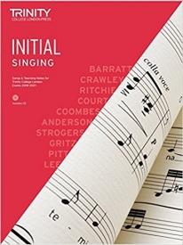 Trinity College Singing Initial Grade From 2018 Book & CD
