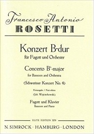 Schweriner Concerto No 4 by Rosetti for Bassoon published by Simrock
