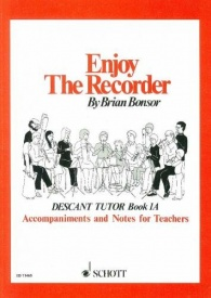 Enjoy the Recorder Book 1A by Bonsor published by Schott and Co