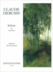Ballade for Piano by Debussy published by Peters