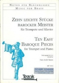 Ten Easy Baroque Pieces for Trumpet published by Tezak