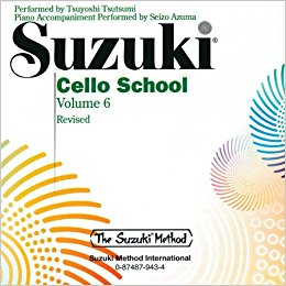 Suzuki Cello School Volume 6 CD Only published by Alfred