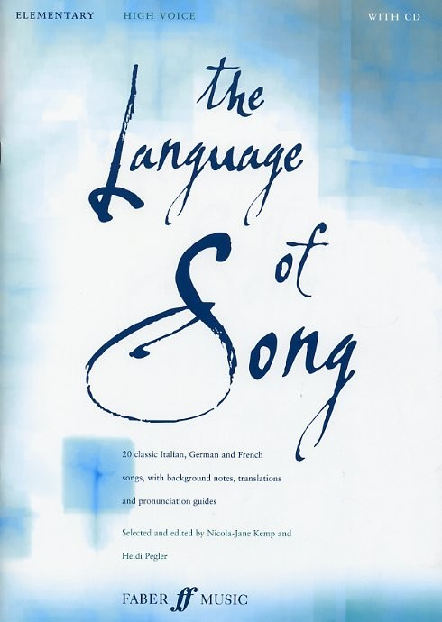 The Language of Song Elementary (High Voice) published by Faber