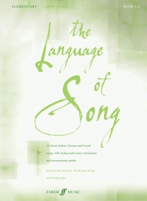 The Language of Song Elementary (Low Voice) published by Faber