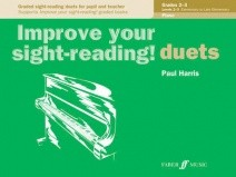 Improve Your Sight Reading Duets Grades 2 - 3 by Harris for Piano published by Faber