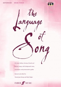 The Language of Song Advanced (High voice) published by Faber