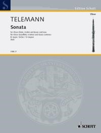 Telemann: Sonata in Bb for Oboe published by Schott
