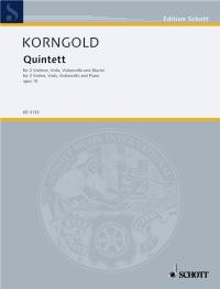 Korngold String Quintett Opus 15 published by Schott