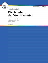 Schradieck: School Of Violin Technique Book 1 published by Cranz