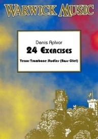 24 Exercises by ApIvor for Trombone (Bass Clef) published by Warwick