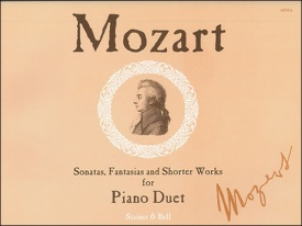 Sonatas, Fantasias and Shorter Works for Piano Duet by Mozart published by Stainer & Bell