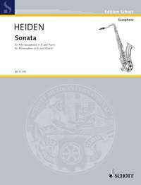 Heiden: Sonata for Alto Saxophone published by Schott