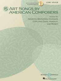 Art Songs By American Composers for Low Voice Book & CD published by Boosey and Hawkes